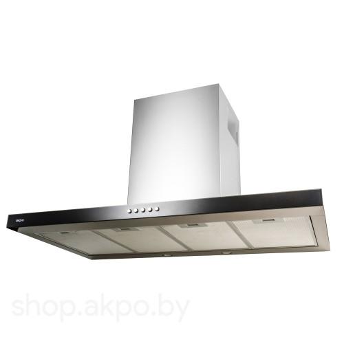 Кухонная вытяжка Akpo Feniks Slim Glass Eco 90 wk-4 чёрное стекло/нержавеющая сталь