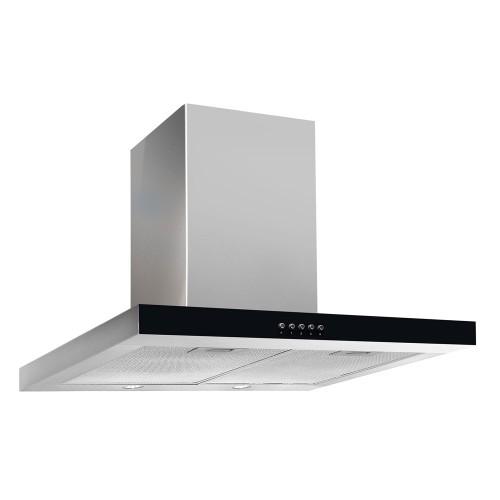 Кухонная вытяжка Akpo Feniks Slim Glass Eco 60 wk-4 чёрное стекло/нержавеющая сталь